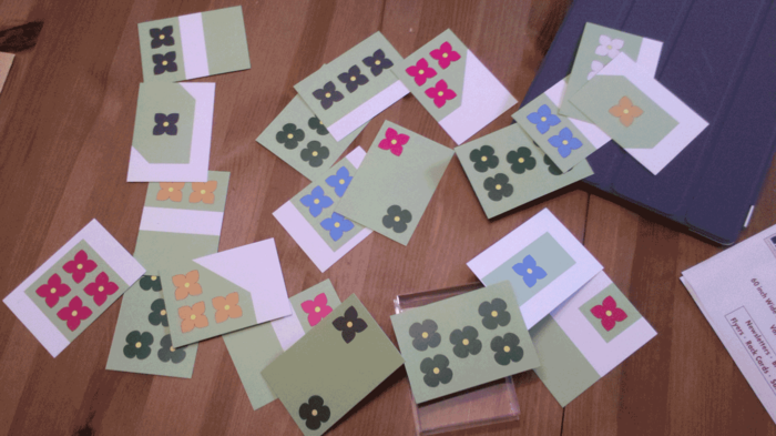 A game of FlowerFall in progress (Prototype edition)