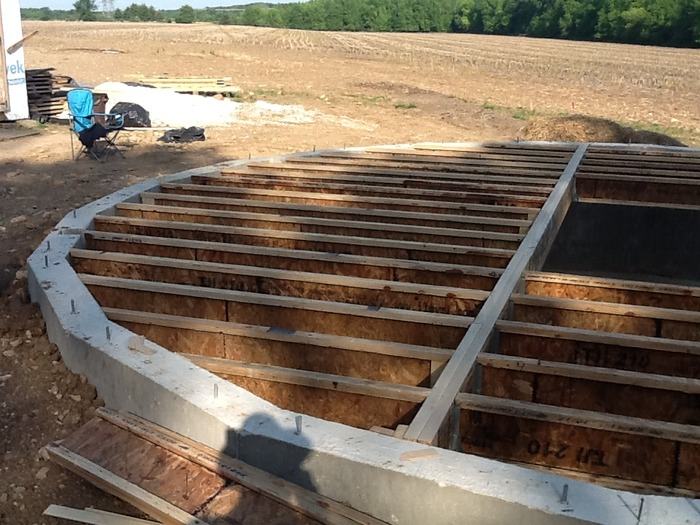 Floor Framing installed