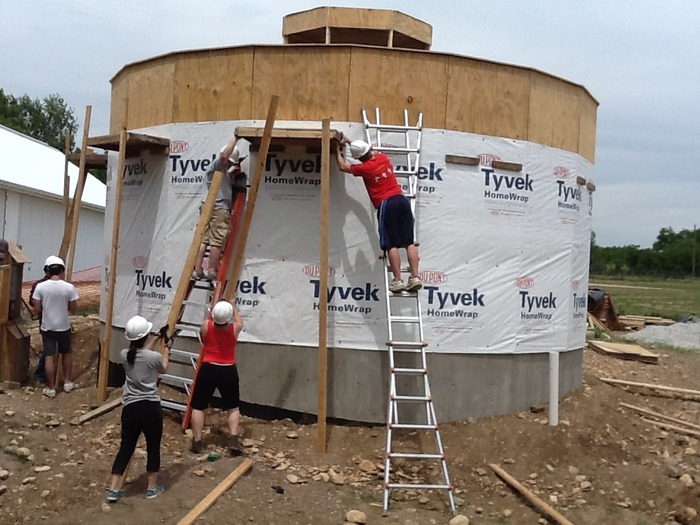 The Summer Studio installs Tyvek