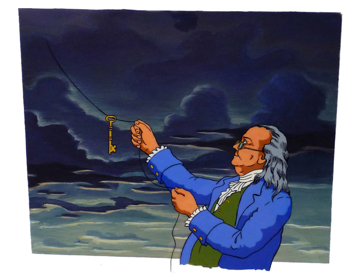 """Ben Franklin"" Cel from Eyeglass series"