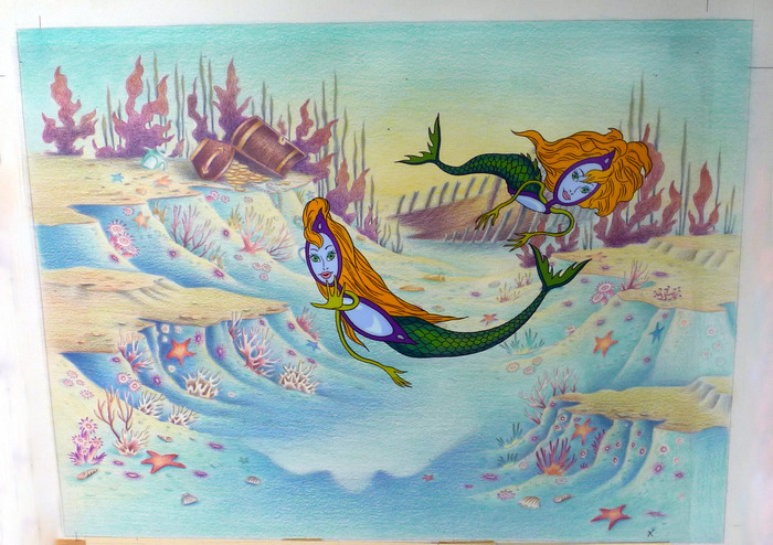 """Mermaids"" Cel from Eyeglass series"