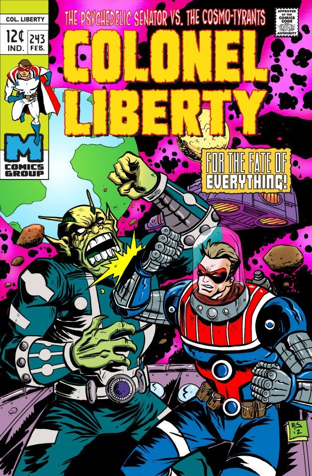 Colonel Liberty cover. Art by: Eric Schock.