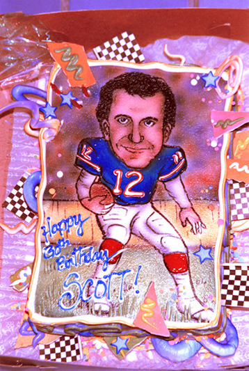 For my 30th Birthday, my wife had me infused into a birthday cake as Bills great, QB Jim Kelly. The Bills never tasted this good... at least not since winning the 1965 AFL Championship -- I was 5.
