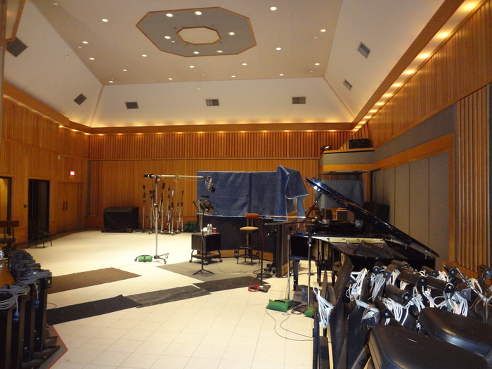 This is what it's like to walk into Studio A at Capitol to record. This was taken during my recording session June 2012.WOW!
