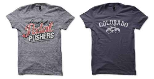 """Fueled by cheap American beer"" & Colorado Bike shirts"