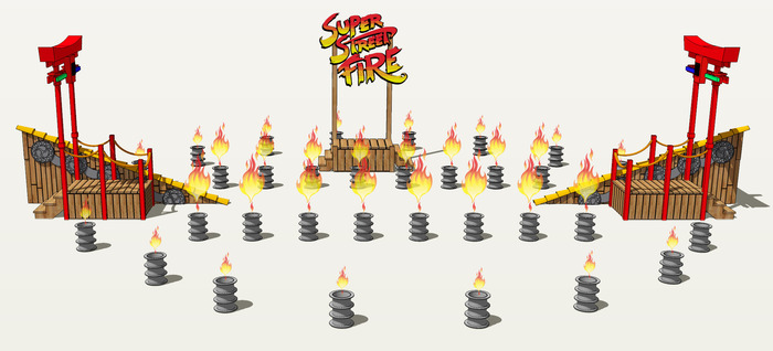 Super Street Fire Stage and Flame Effects.