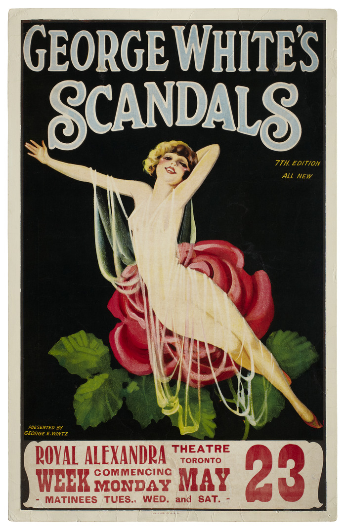 "1925 ""GEORGE WHITE'S SCANDALS"" BLONDE POSTER"