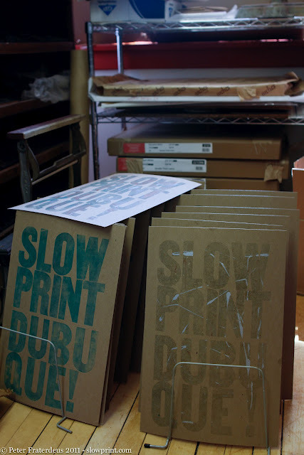 Monotype Woodtype Letterpress Poster by Peter Fraterdeus at Slow Print Letterpress