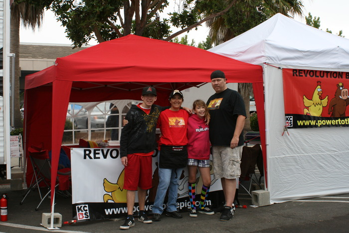 Christian,Vida, Savanna, and Glenn Connaughton make up Revolution Barbecue