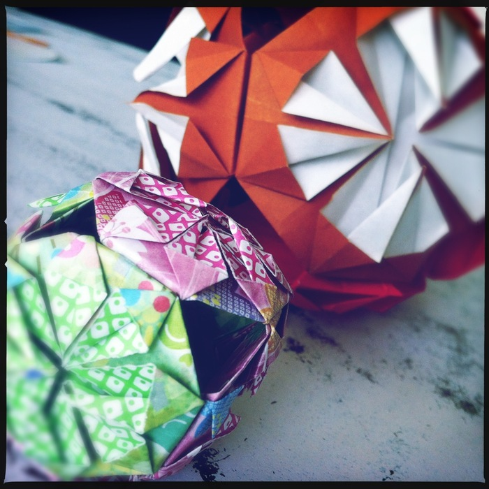 large and small kusudama