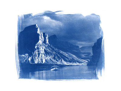 Grand Canyon  (cyanotype)