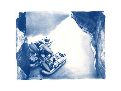 Parked At Havasu  (cyanotype)