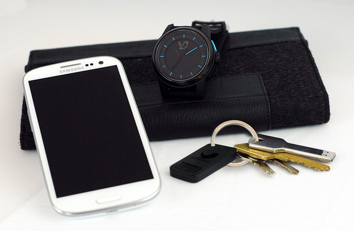 Samsung Galaxy SIII, COOKOO Watch and Keychain Prototype
