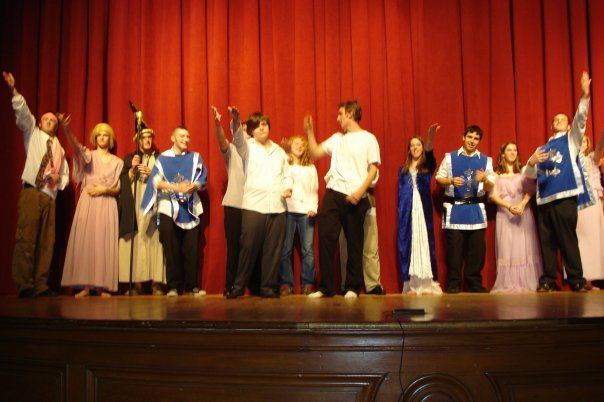 "Above: A screenshot from our successful play ""King Arthur...with Werewolves"", from 2007. It was the most successful amateur play at the oldest theater in CT. A large part of the cast and crew who helped us pull this off will be returning to elevate ""IFYD"""