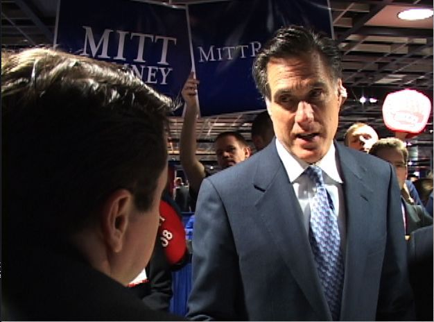 Republican Presidential Candidate Mitt Romney is asked about the impact of his candidacy upon Urban America and drawing African Americans into the Republican Party