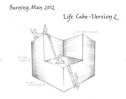 Drawing for the Life Cube V2 - 2012