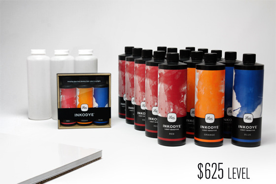 Start a printing business. With this set you'll be ready to start producing a whole collection! It's over 250 ounces of Inkodye.