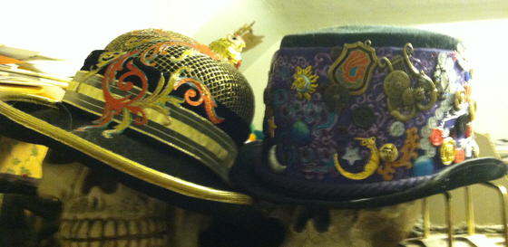 Custom decorated hats by Anita Allen.