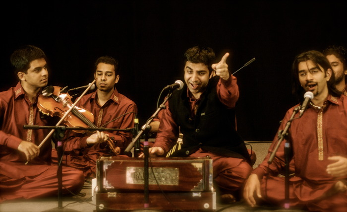[Riyaaz Qawwali at a recent recording session (2/2012)]