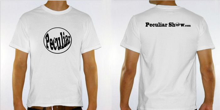Peculiar T Shirt: Reward for Pledges $25 or more.