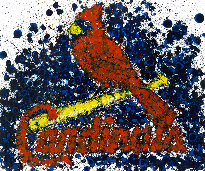 """St. Louis Cardinals"" - Officially Licensed Image of MLB and Timothy Raines"
