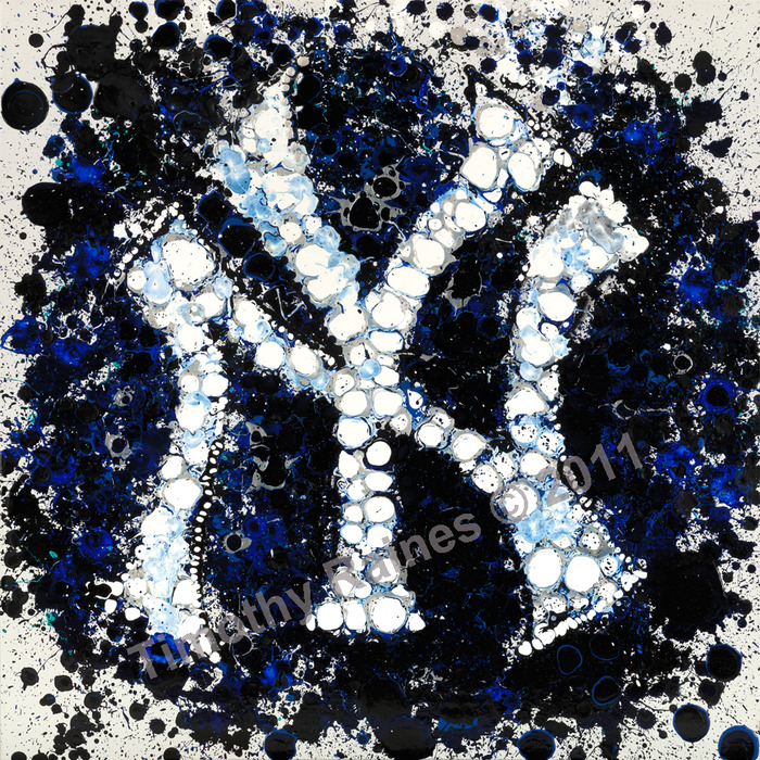 """NY"" - MLB Officially Licensed Artwork by Timothy Raines"