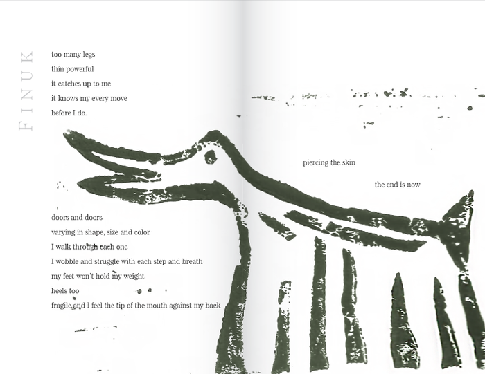 Sample page for the poem Finuk