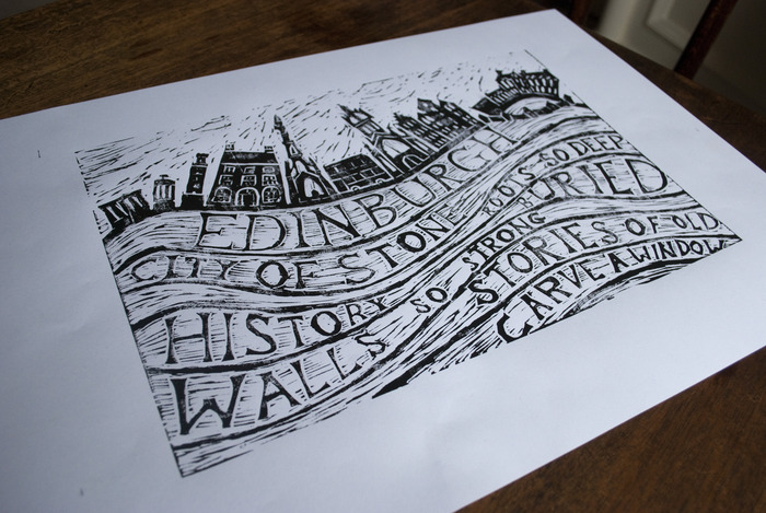 City of Stone print by artist Lou Davis