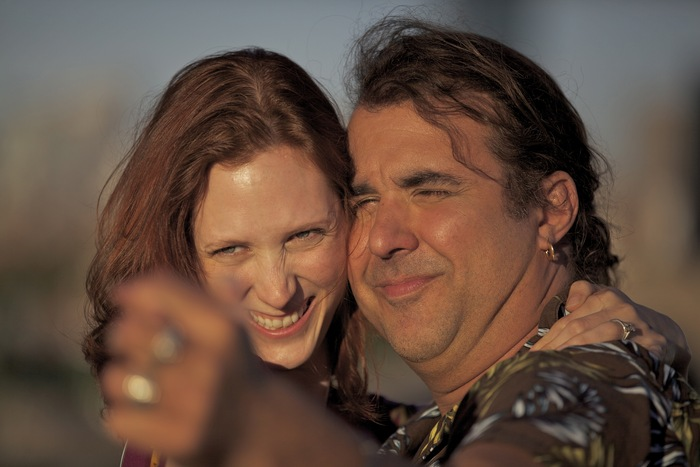 Ken and Stephanie Dumanski, played by Rick Dumont and Diana Porter, enjoy a moment in the sun
