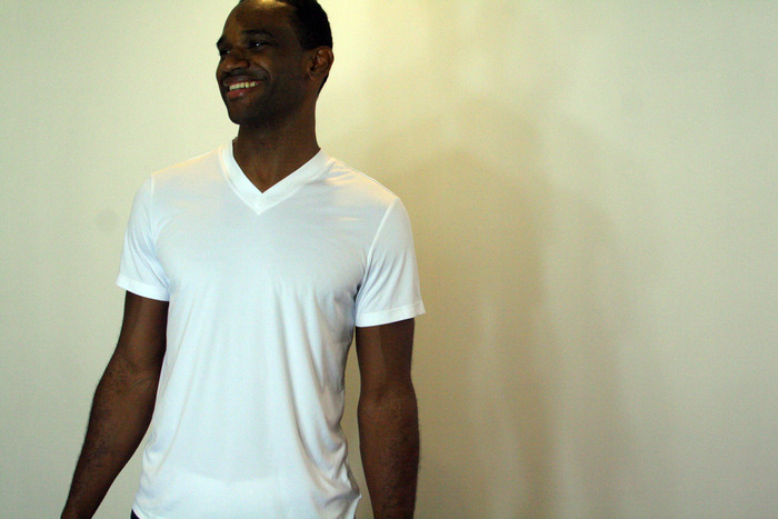 Our White Performance Base Layer in V Neck