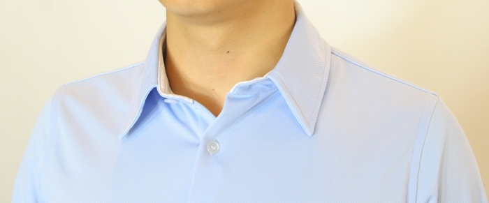 Our Original Standard Moisture-Wicking Agent Shirt, Shown in Blue.