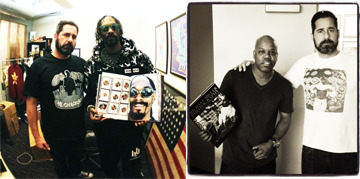 Snoop Dogg and Too Short with Michael after receiving their books