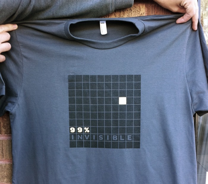 99% Invisible logo shirt