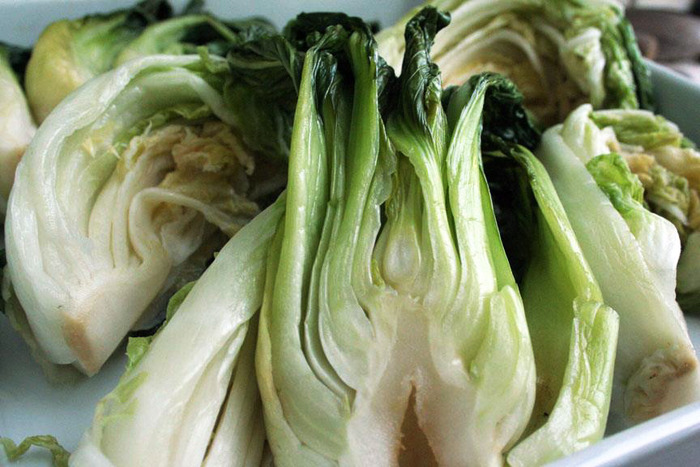 Bok choy, brined and ready