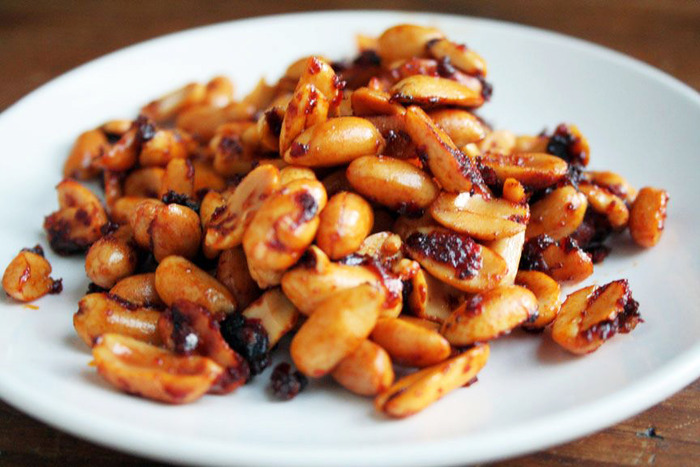 Beernuts roasted in chili paste.... you get the point