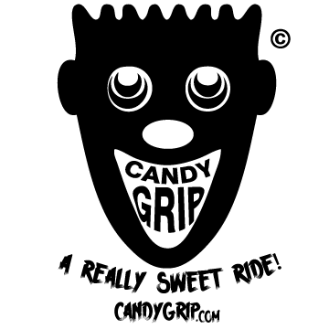 Candy Grip Die Cut Sticker & t-shirt logo