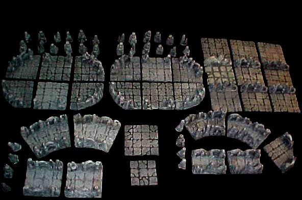The complete Caverns of Blood set laid out... that's a lot of dungeon!