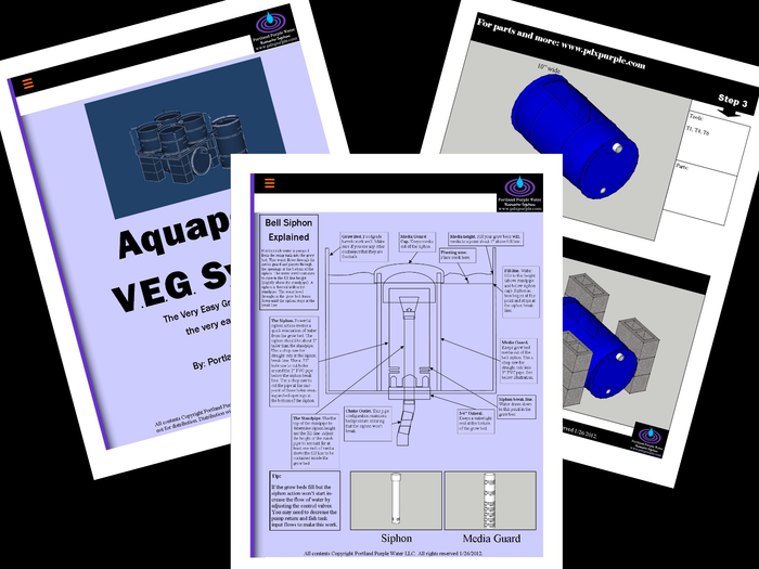 Aquaponic VEG System Manual-- This 41-page illustrated manual guides you through each step of setting up your own aquaponic VEG system.