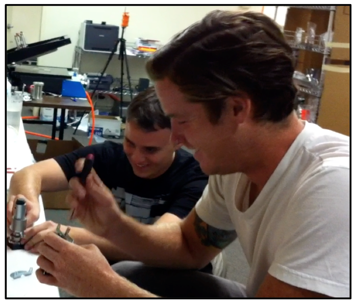 Ryan and John assembling a motor