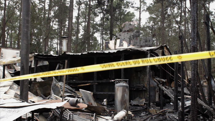 The original Shed BBQ & Blues Joint destroyed by fire on February 12.