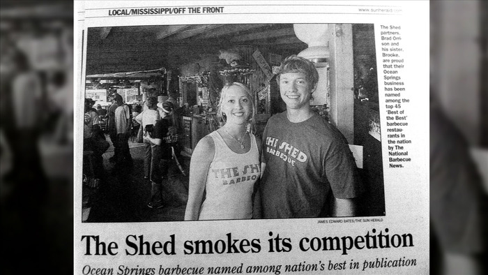 "Brad & Brooke's Shed ""smokes its competition"" says the local newspaper."
