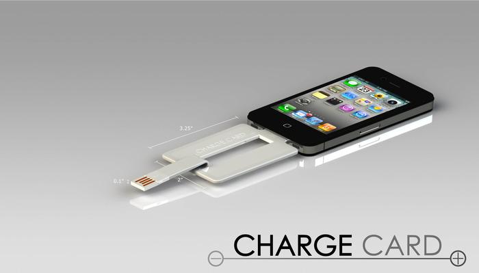 每日一配:可以放钱包里的信用卡般大小的iphone 4/4s/5充电线