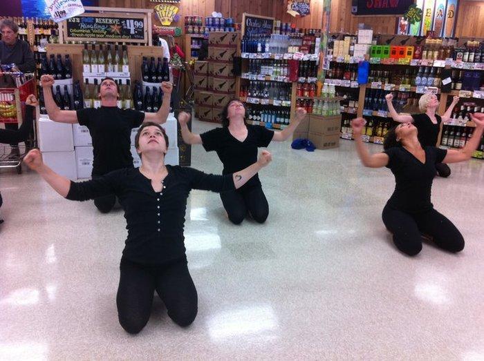 FLEX performing as part of National Dance Week.