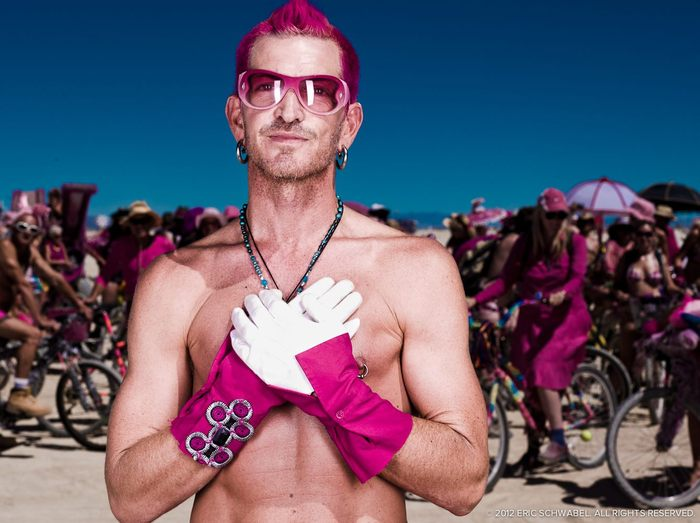 Halcyon, photographed during this Pink Parade at Burning Man 2010