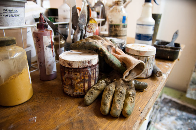 Pigments and materials . Photo by Kate Daigneault