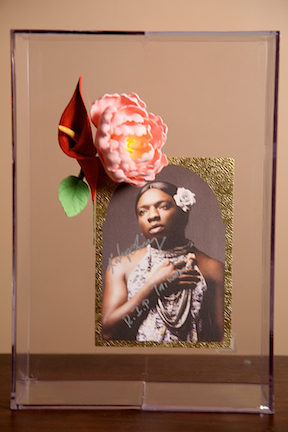 Taiwan Framed Boxed Memorial Program and Edible Flower from Whitney Art Party 2012 Art Party performance