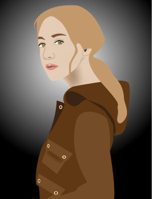 Meet Lucy Carter, 15-year-old actress and main character of A Part to Play - Original illustration by Jennifer Fry