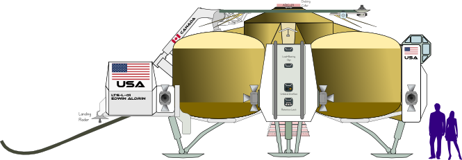 LTS Lander (Plan-Starboard) by Terry Hancock
