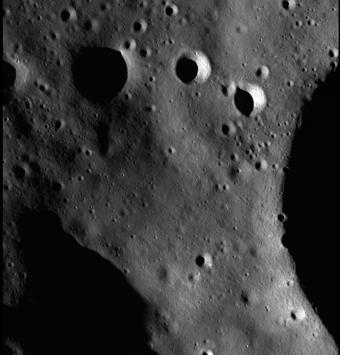 "Half-meter scale images like this one from Lunar Reconnaissance Orbiter's narrow-angle camera have allowed us to get very accurate information about the region where ""Lunatics"" is set!"