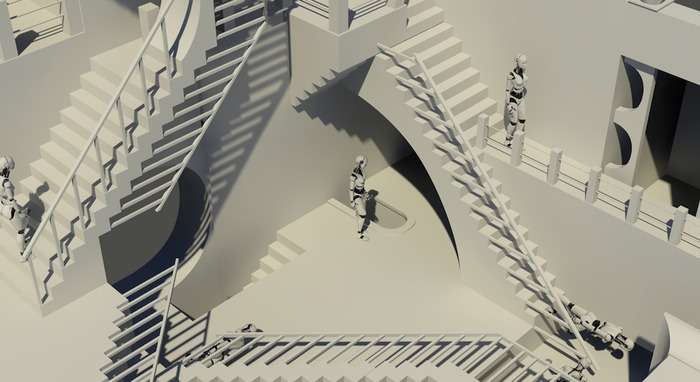Abstract staircase (draft, work in progress)